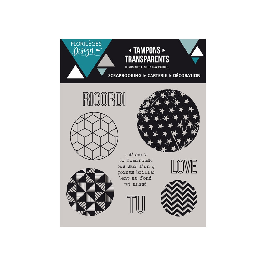 Tampons clear italien BOLLE GEOMETRICHE X3