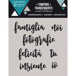 Tampons clear italien Paroline 1 par Florilèges Design. Scrapbooking et loisirs créatifs. Livraison rapide et cadeau dans cha...