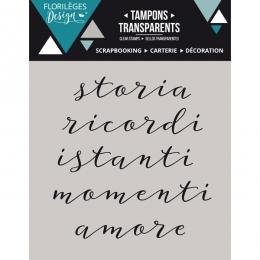 Tampons clear italien Paroline 2 par Florilèges Design. Scrapbooking et loisirs créatifs. Livraison rapide et cadeau dans cha...