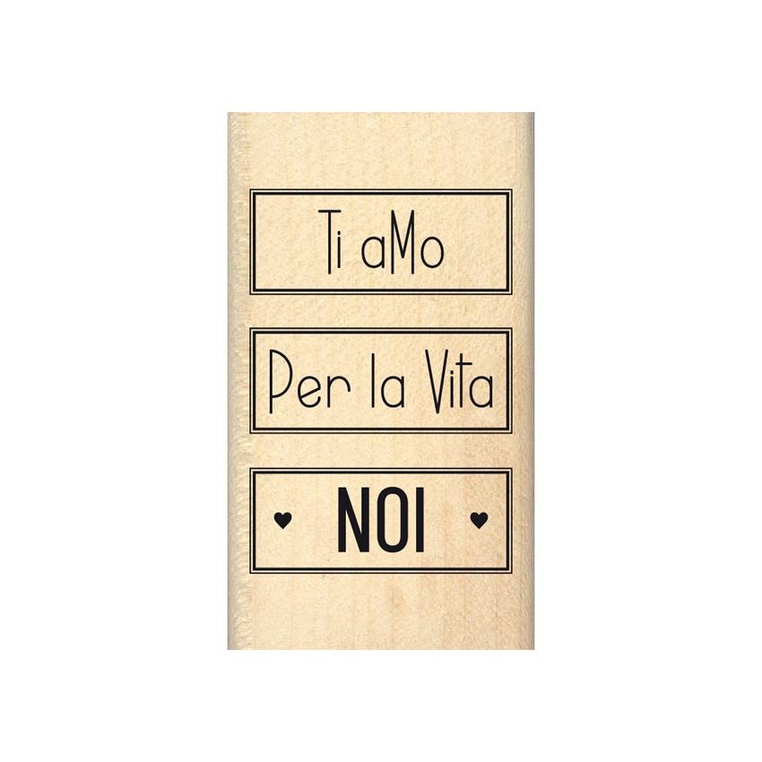 Tampon bois italien NOI PER LA VITA par Florilèges Design. Scrapbooking et loisirs créatifs. Livraison rapide et cadeau dans ...