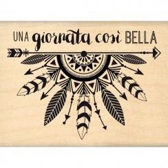 Tampon bois italien GIORNATA COSI BELLA