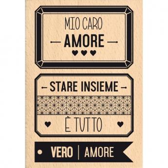 Tampon bois italien VERO AMORE