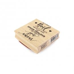 PROMO de -40% sur Tampon bois NOËL CHALEUREUX Florilèges Design