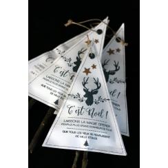 Tampon bois NOËL AUX 1000 ÉTOILES par Florilèges Design. Scrapbooking et loisirs créatifs. Livraison rapide et cadeau dans ch...