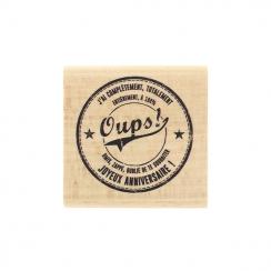 Tampon bois OUPS ! par Florilèges Design. Scrapbooking et loisirs créatifs. Livraison rapide et cadeau dans chaque commande.