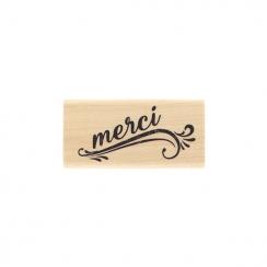 PROMO de -30% sur Tampon bois MERCI GRUNGE Florilèges Design