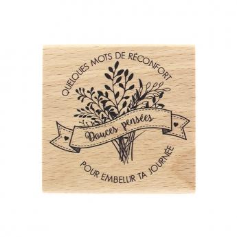 Tampon bois MOTS DE RÉCONFORT