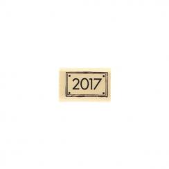 Tampon bois 2017 par Florilèges Design. Scrapbooking et loisirs créatifs. Livraison rapide et cadeau dans chaque commande.