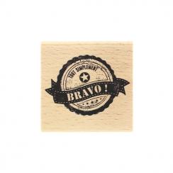Tampon bois SIMPLEMENT BRAVO par Florilèges Design. Scrapbooking et loisirs créatifs. Livraison rapide et cadeau dans chaque ...