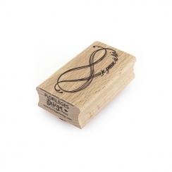 Tampon bois PENSÉE INFINIE par Florilèges Design. Scrapbooking et loisirs créatifs. Livraison rapide et cadeau dans chaque co...