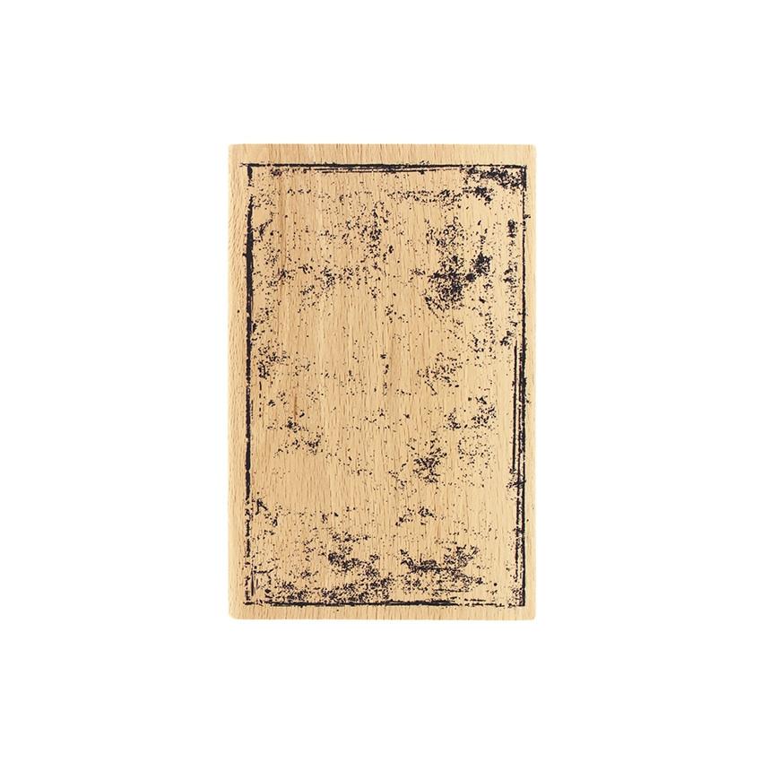 Tampon bois CARTE GRUNGE