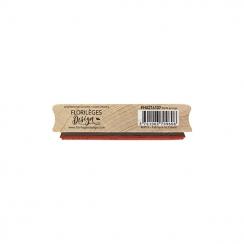 Tampon bois CARTE GRUNGE par Florilèges Design. Scrapbooking et loisirs créatifs. Livraison rapide et cadeau dans chaque comm...