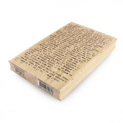 Tampon bois TEXTE GRUNGE par Florilèges Design. Scrapbooking et loisirs créatifs. Livraison rapide et cadeau dans chaque comm...