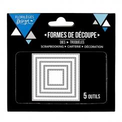 Outils de découpe CARRÉS BASIQUES par Florilèges Design. Scrapbooking et loisirs créatifs. Livraison rapide et cadeau dans ch...