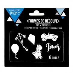 Outils de découpe JEUX D'ENFANCE par Florilèges Design. Scrapbooking et loisirs créatifs. Livraison rapide et cadeau dans cha...