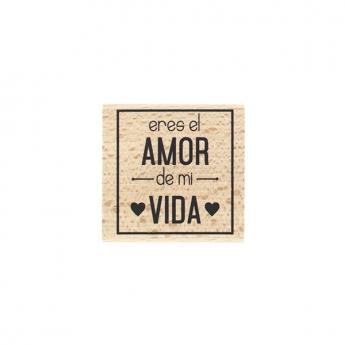 Tampon bois espagnol AMOR DE MI VIDA