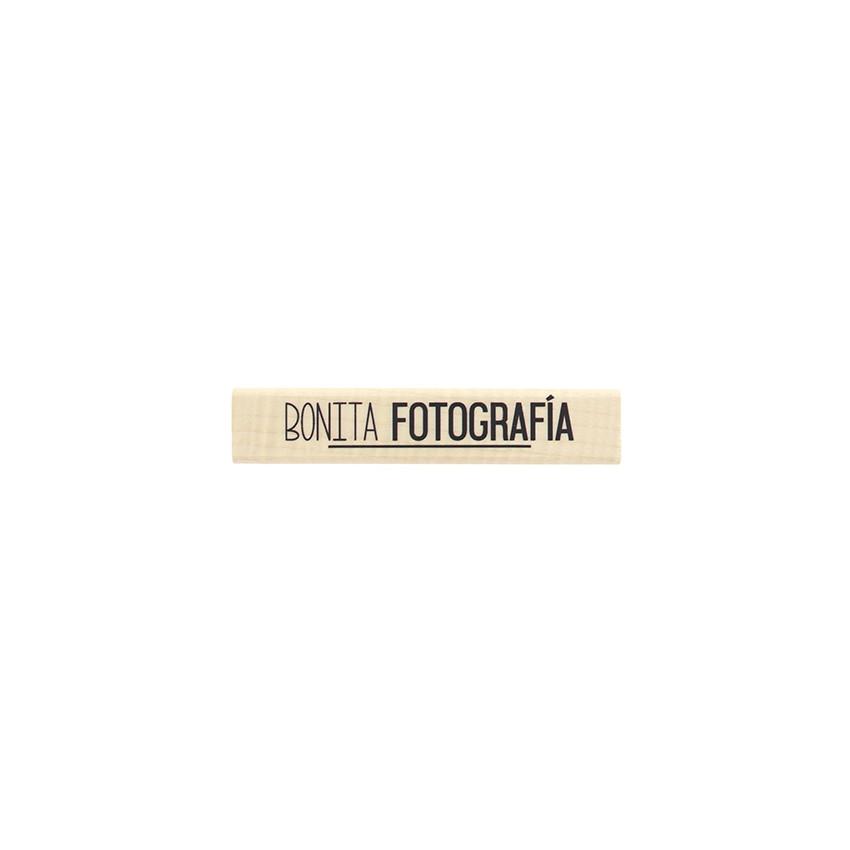 Tampon bois espagnol BONITA FOTOGRAF?A