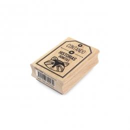 Tampon bois espagnol BONITAS HISTORIAS par Florilèges Design. Scrapbooking et loisirs créatifs. Livraison rapide et cadeau da...