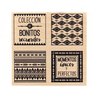 Tampon bois espagnol COLECCIÓN DE RECUERDOS
