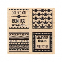 Commandez Tampon bois espagnol COLECCIÓN DE RECUERDOS Florilèges Design. Livraison rapide et cadeau dans chaque commande.
