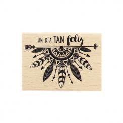 Commandez Tampon bois espagnol DÍA TAN FELIZ Florilèges Design. Livraison rapide et cadeau dans chaque commande.