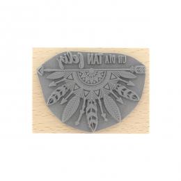 Tampon bois espagnol DÍA TAN FELIZ par Florilèges Design. Scrapbooking et loisirs créatifs. Livraison rapide et cadeau dans c...