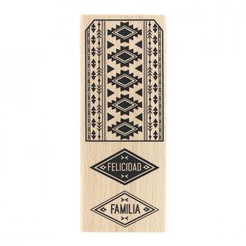 Tampon bois espagnol ETIQUETA AZTECA