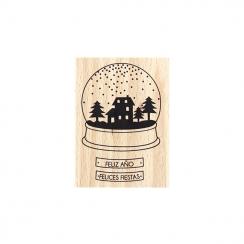 Tampon bois espagnol FELICES FIESTAS par Florilèges Design. Scrapbooking et loisirs créatifs. Livraison rapide et cadeau dans...