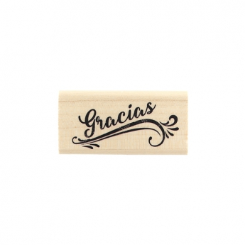 Tampon bois espagnol GRACIAS