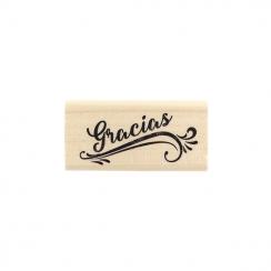 Parfait pour créer : Tampon bois espagnol GRACIAS par Florilèges Design. Livraison rapide et cadeau dans chaque commande.