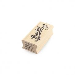 Tampon bois espagnol GRACIAS par Florilèges Design. Scrapbooking et loisirs créatifs. Livraison rapide et cadeau dans chaque ...