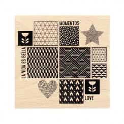 Tampon bois espagnol INSPIRACIÓN ESCANDINAVA par Florilèges Design. Scrapbooking et loisirs créatifs. Livraison rapide et cad...