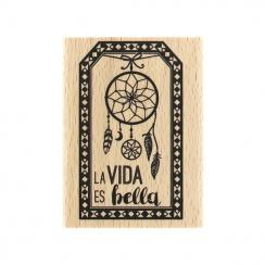 Commandez Tampon bois espagnol LA VIDA ES BELLA Florilèges Design. Livraison rapide et cadeau dans chaque commande.