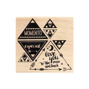 Tampon bois espagnol MOMENTO ESPECIAL