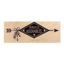 Tampon bois espagnol MOMENTOS ADORABLES par Florilèges Design. Scrapbooking et loisirs créatifs. Livraison rapide et cadeau d...