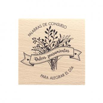 Tampon bois espagnol PALABRAS DE CONSUELO