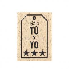 Tampon bois espagnol SÓLO TÚ Y YO par Florilèges Design. Scrapbooking et loisirs créatifs. Livraison rapide et cadeau dans ch...