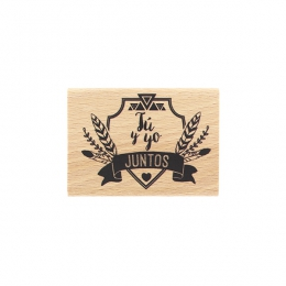 Tampon bois espagnol TÚ Y YO JUNTOS par Florilèges Design. Scrapbooking et loisirs créatifs. Livraison rapide et cadeau dans ...