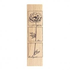 Tampon bois espagnol UN POCO DE DULZURA par Florilèges Design. Scrapbooking et loisirs créatifs. Livraison rapide et cadeau d...