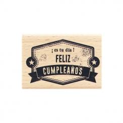 Tampon bois espagnol ¡ES TU DÍA! par Florilèges Design. Scrapbooking et loisirs créatifs. Livraison rapide et cadeau dans cha...