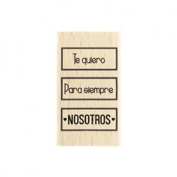 Tampon bois espagnol NOSOTROS PARA SIEMPRE