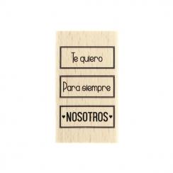 Tampon bois espagnol NOSOTROS PARA SIEMPRE par Florilèges Design. Scrapbooking et loisirs créatifs. Livraison rapide et cadea...