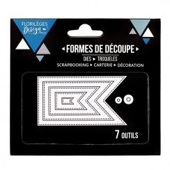Outils de découpe FANIONS BASIQUES par Florilèges Design. Scrapbooking et loisirs créatifs. Livraison rapide et cadeau dans c...