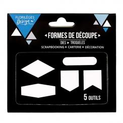 Outils de découpe CINQ FORMES par Florilèges Design. Scrapbooking et loisirs créatifs. Livraison rapide et cadeau dans chaque...