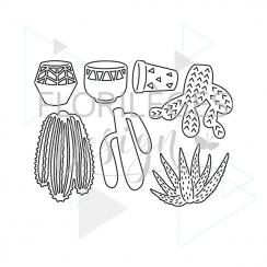 Outils de découpe QUELQUES CACTUS