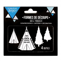 Outils de découpe TIPIS par Florilèges Design. Scrapbooking et loisirs créatifs. Livraison rapide et cadeau dans chaque comma...