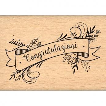 Tampon bois italien Congratulazioni