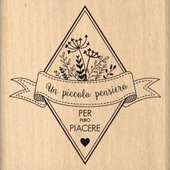 Tampon bois italien Per puro piacere par Florilèges Design. Scrapbooking et loisirs créatifs. Livraison rapide et cadeau dans...