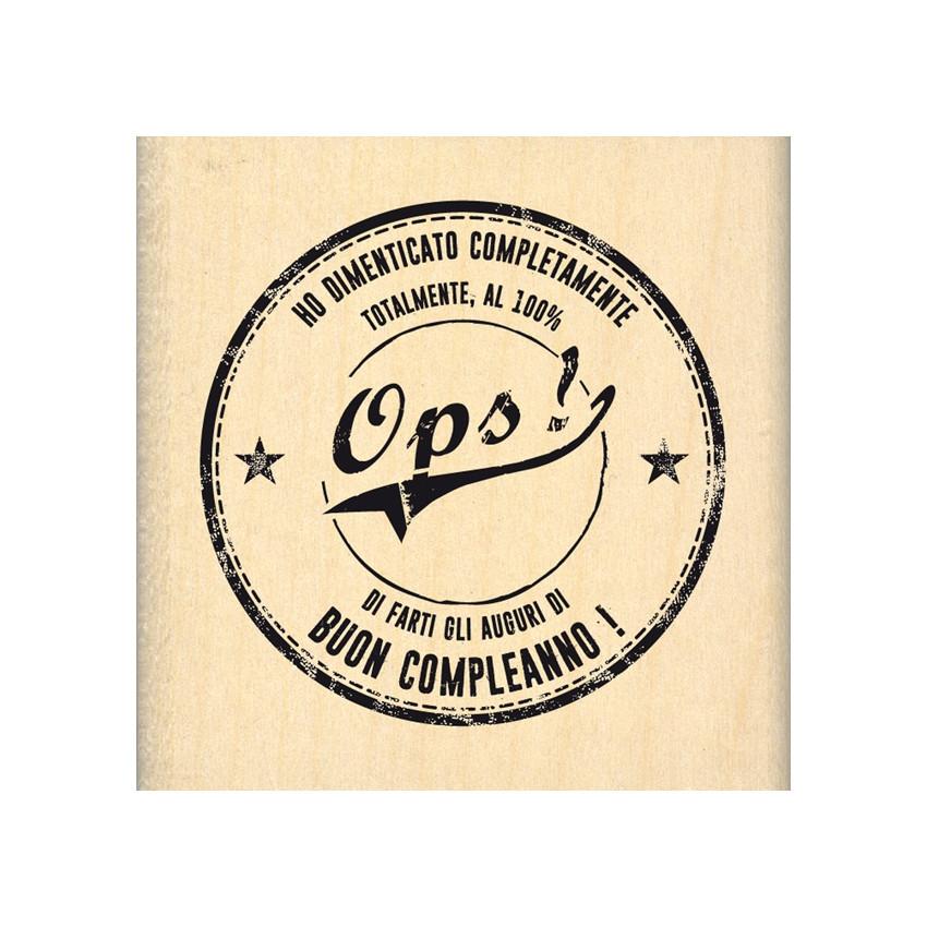 Tampon bois italien Ops! par Florilèges Design. Scrapbooking et loisirs créatifs. Livraison rapide et cadeau dans chaque comm...