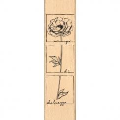 Tampon bois italien Un po' di dolcezza par Florilèges Design. Scrapbooking et loisirs créatifs. Livraison rapide et cadeau da...